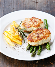 Fish Burgers with Asparagus and Parsnip  Fries