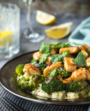 Ginger Lime Chicken & Broccoli with Cauliflower Rice