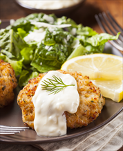 Grain-Free Salmon Burgers with Kale-Avocado Salad