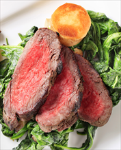 Grass-Fed Beef Tenderloin with Garlicy Kale