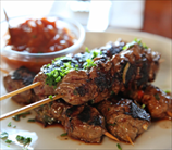 Grass Fed Beef Satay with Spicy Peanut Sauce