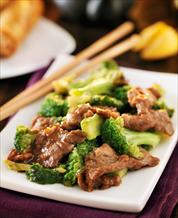 Grass Fed Beef and Broccoli with Garlic-Ginger Sauce