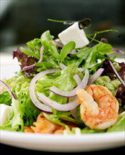 Paleo Greek Salad with Shrimp