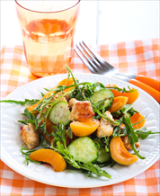 Grilled Chicken, Apricot & Arugula Salad