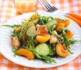 Grilled Chicken, Apricot & Arugula Summer Salad