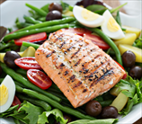Grilled Salmon Salad Niçoise