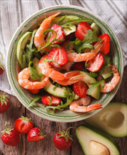 Grilled Shrimp Salad with Strawberries