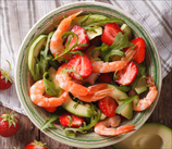 Grilled Shrimp Salad with Strawberries and Honey- Balsamic Vinaigrette
