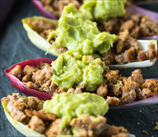 Ground Turkey Boats with Quick Guacamole