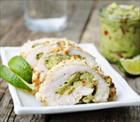 Guacamole-Stuffed Chicken Roulades