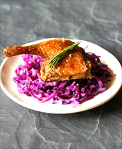Instant Pot Duck Confit with Superfat Red Cabbage