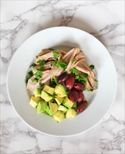 Instant Pot Garlic and Rosemary Pork Tenderloin with Olives and Avocado