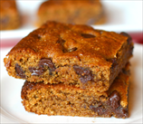 Keto Blondies with Chocolate Chips