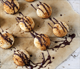 Keto Coconut Macaroons with Chocolate Drizzle