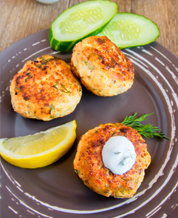 Keto Crab Cakes with Aioli and Broccoli Raab