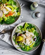 Keto Greek Salad with Chicken
