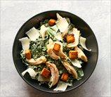 Keto Kale Caesar Salad with Chicken