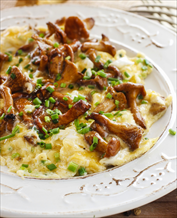Keto Mushroom and Goat Cheese Omelets