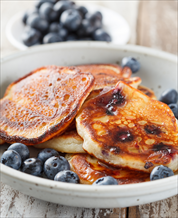 Keto Paleo Buttermilk Pancakes and Bacon