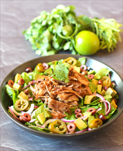 Keto Paleo Carnitas Salad with Cumin-Lime Vinaigrette