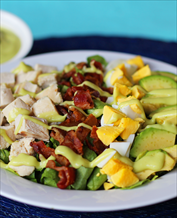 Keto Paleo Cobb Salad with Creamy Avocado Dressing