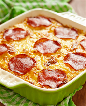 Keto Pepperoni Pizza Casserole