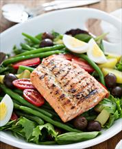 Keto Salmon Nicoise Salad