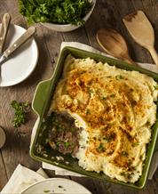 Keto Shepherd's Pie and Sauteed Asparagus