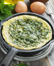 Keto Spinach and Mushroom Scrambled Egg Skillet