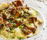 Keto Wild Mushroom and Goat Cheese Omelets