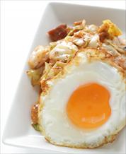 Kimchi + Sunny Side Up Eggs