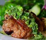 Lamb Burgers with Kalamata Olives and Mint Gremolata