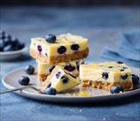 Lemon Cheesecake Squares with Blueberries