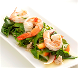 Lemon Shrimp with Beet Greens