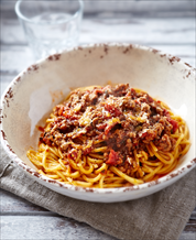 Low Carb Spaghetti Bolognese with Mixed Green Salad