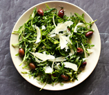 Mediterranean Arugula and Olive Salad