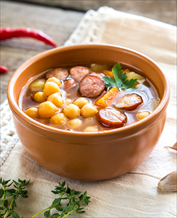 Mediterranean Chicken Sausage, Chickpea & Spinach Soup