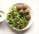 Mediterranean Lamb Meatballs with Cilantro Crema