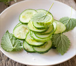 Minted Cucumber Salad with Indian-Spiced Dressing