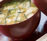 Miso Soup with Cilantro, Scallions & Wakame