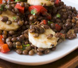 Moroccan-Spiced Scallop with Lentil Tabbouleh