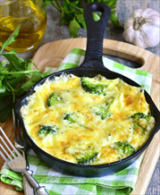 Mushroom and Broccoli Omelet
