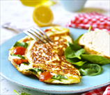 Omelet with Spinach, Onions & Tomatoes