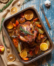 One-Pan Chicken with Fall Fruit