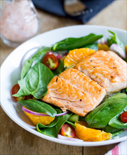 One-Pan Salmon with Grape Tomatoes and Spinach
