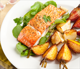 One Pan Roasted Wild Salmon with Golden Beets