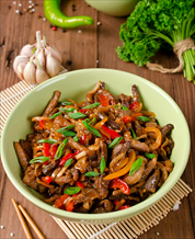 Orange Pork and Pepper Stir Fry