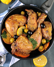Orange and Olive Chicken with Broccoli Rabe