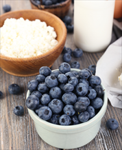 Organic Blueberries with Cottage Cheese