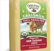Organic Valley Grassmilk Cheese Raw Cheddar